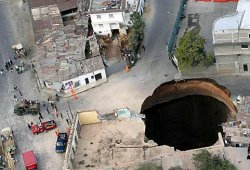 Guatemala Loch im Boden