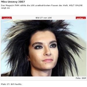 Tokio Hotel ist Hässlich