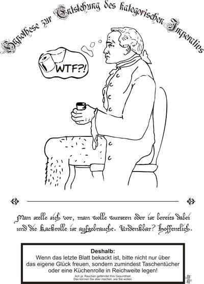 Immanuel Kant. Kackend. auf netzpfade nerdkolumne
