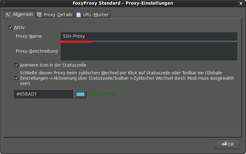 FoxyProxy Proxyname